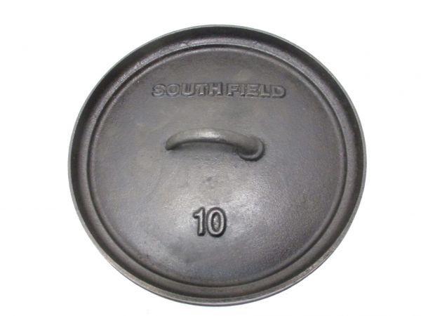 ♪サウスフィールド SOUTHFIELD ダッチオーブン 10インチ 五徳付き BBQ キャンプ アウトドア 42043A♪_画像3