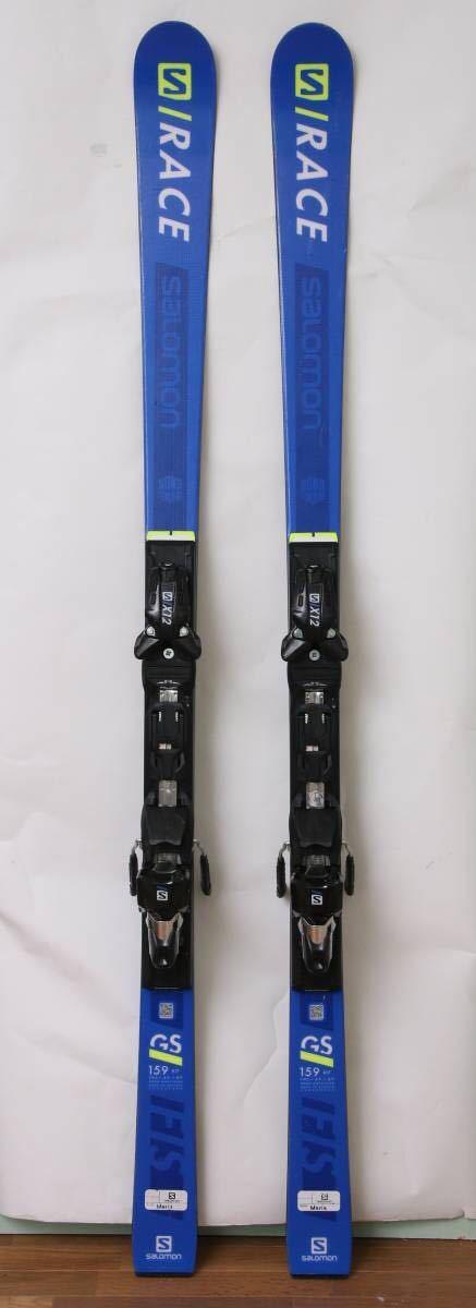 SALOMON サロモン GS 159cm S/RACE GS FIS JR + X12 TL 【中古】