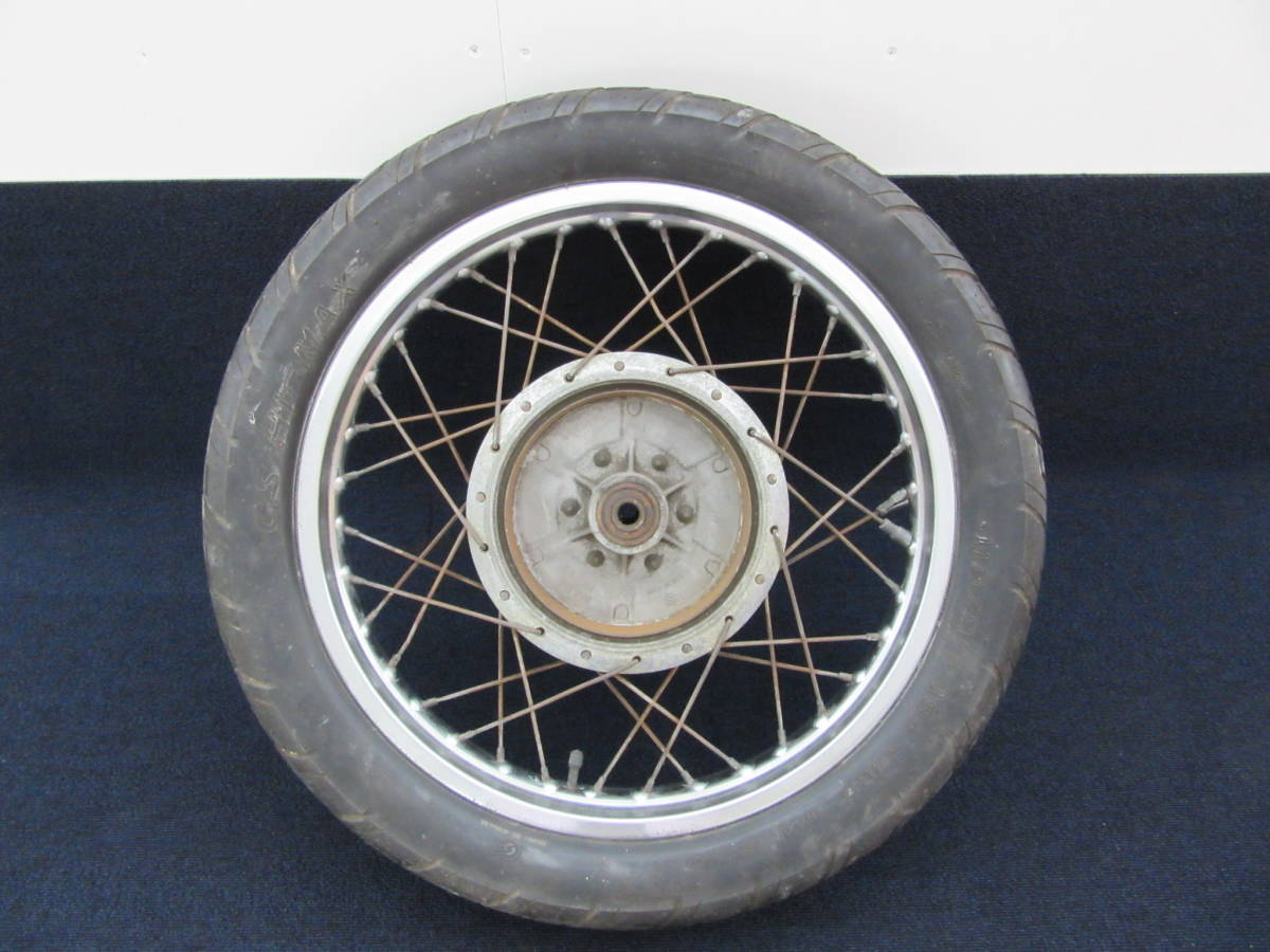(BJ0202)-45 スズキ GS400 純正ホイール&リアハブ等 当時物中古部品/希少旧車昭和