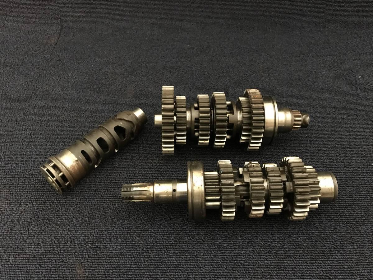(BJ0202)-48 スズキ GS400 純正ミッションギア&シフトドラム 当時物中古エンジン部品/希