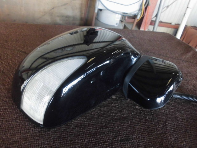 JC1 ライフ ディーバ 右ドアミラー ウインカー付き 電格・電動 スマートキー車 黒 B92P 3104_画像2