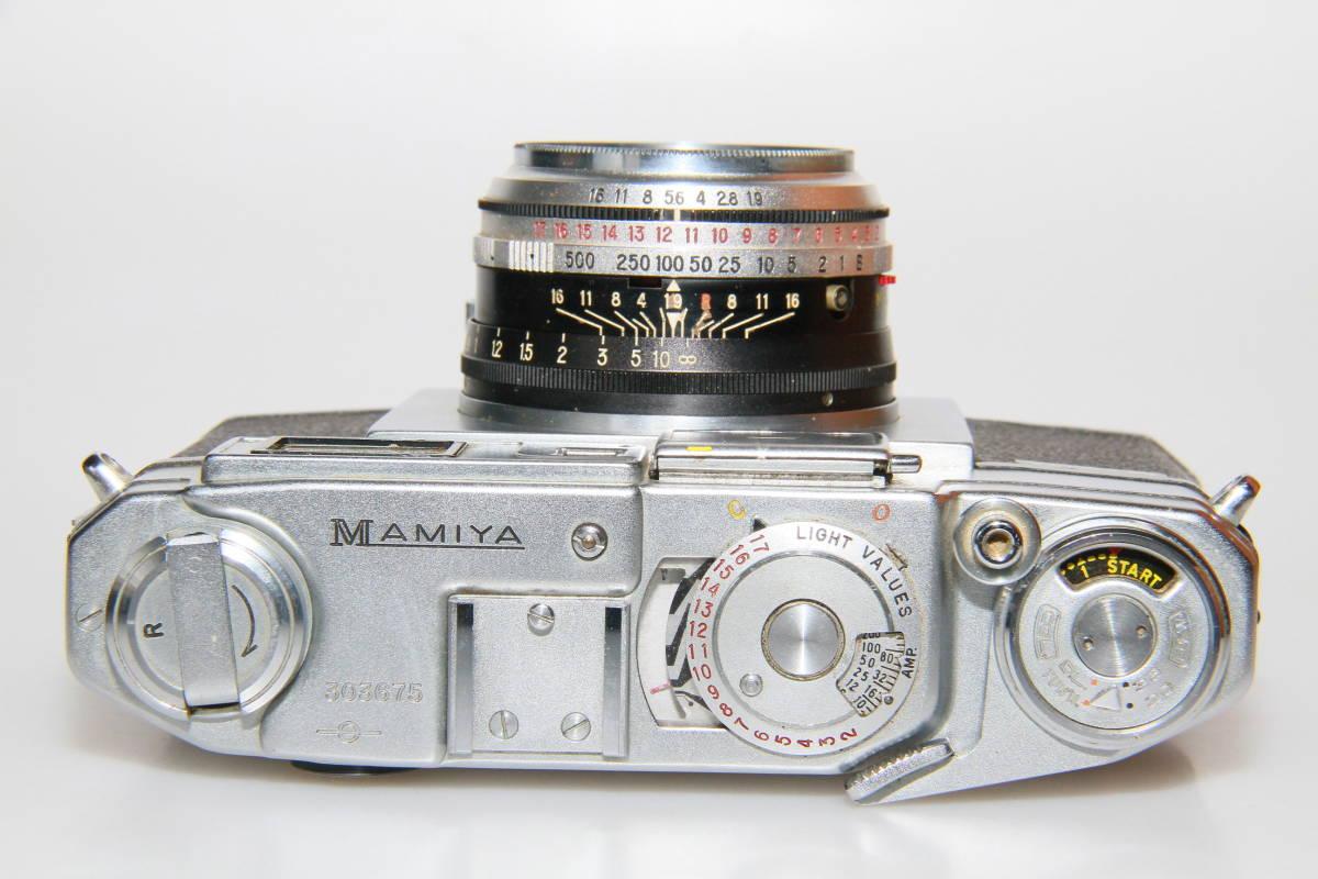 キレイな中古MAMIYA MAMIYA-SEKOR F.C.4.8cm F1.9 メタルキャップ、ストラップ付、作動確認済み_画像3