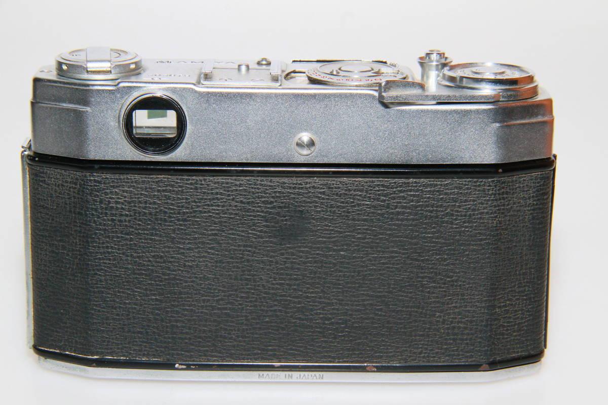 キレイな中古MAMIYA MAMIYA-SEKOR F.C.4.8cm F1.9 メタルキャップ、ストラップ付、作動確認済み_画像4