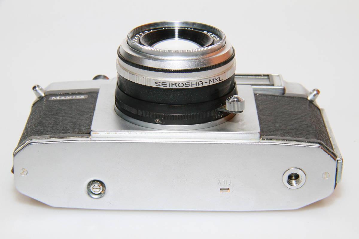 キレイな中古MAMIYA MAMIYA-SEKOR F.C.4.8cm F1.9 メタルキャップ、ストラップ付、作動確認済み_画像5