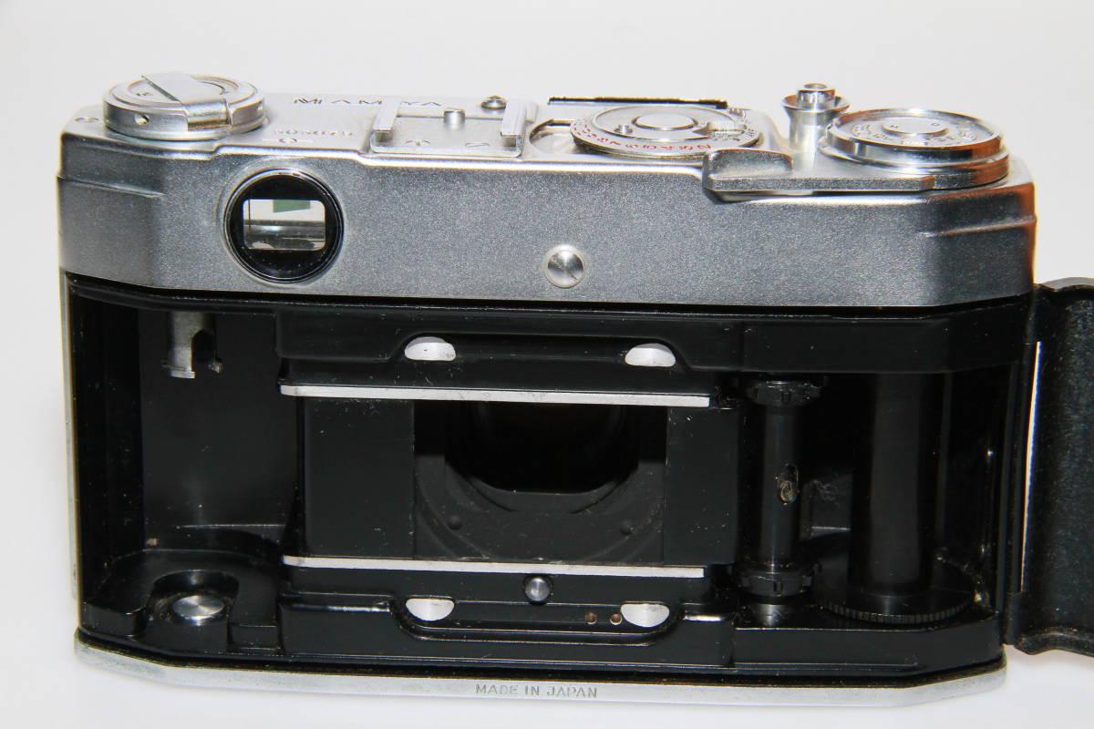 キレイな中古MAMIYA MAMIYA-SEKOR F.C.4.8cm F1.9 メタルキャップ、ストラップ付、作動確認済み_画像6