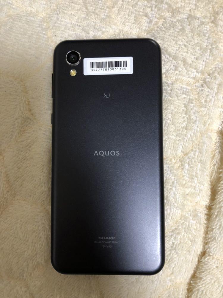 新品未使用 AQUOS sense2 SHV43 黒 au SIMロック解除済 1円~売り切り_画像3