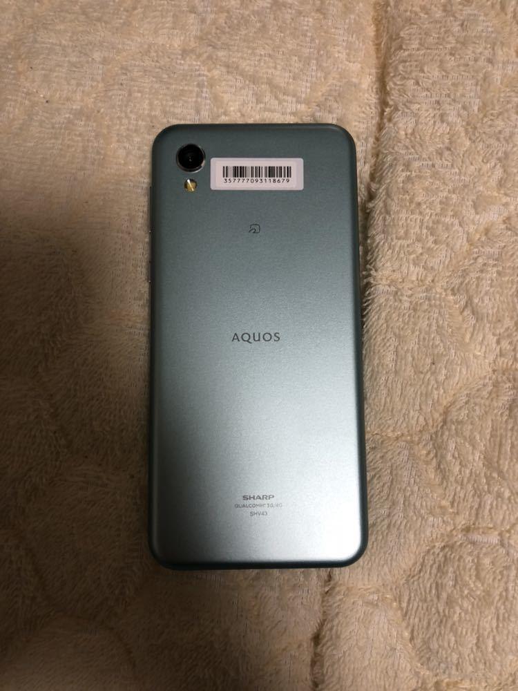 新品未使用 AQUOS sense2 SHV43 グリーン au SIMロック解除済 1円~売り切り_画像3