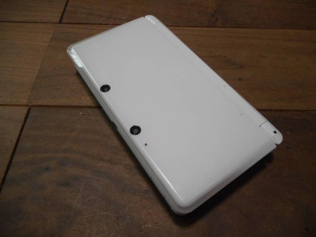 ①【送料無料】完動品液晶綺麗3DS本体アイスホワイトVer9.4.0-21J【動作確認済み1円スタート】_画像2