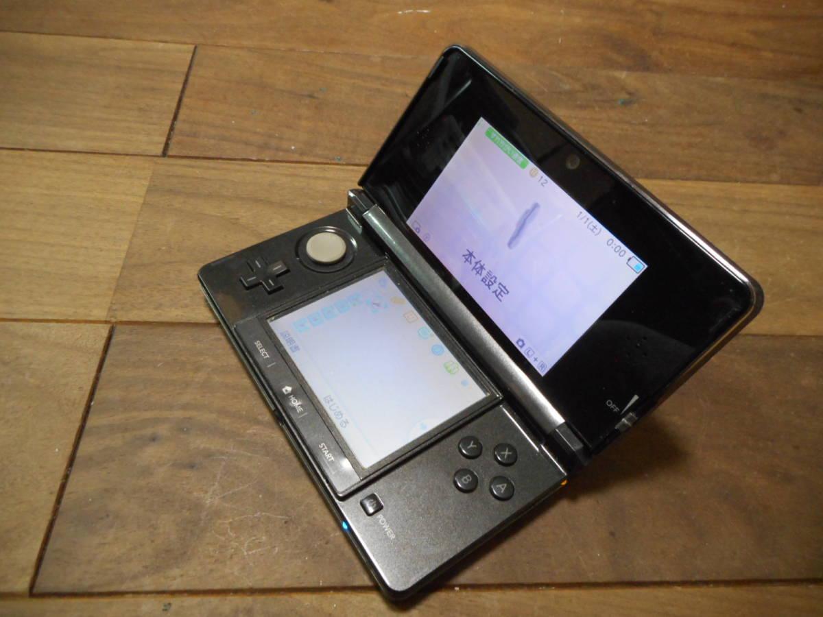 ②【送料無料】完動品3DS本体コスモブラックVer11.0.0-33J【動作確認済み1円スタート】