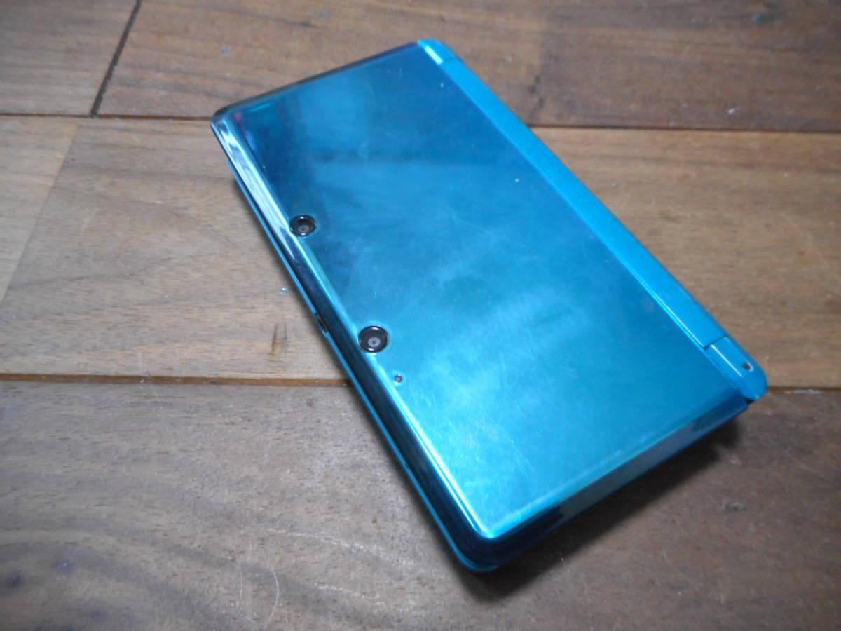 ①【送料無料】完動品液晶綺麗3DS本体アクアブルーVer9.9.0-26J【動作確認済み1円スタート】_画像2