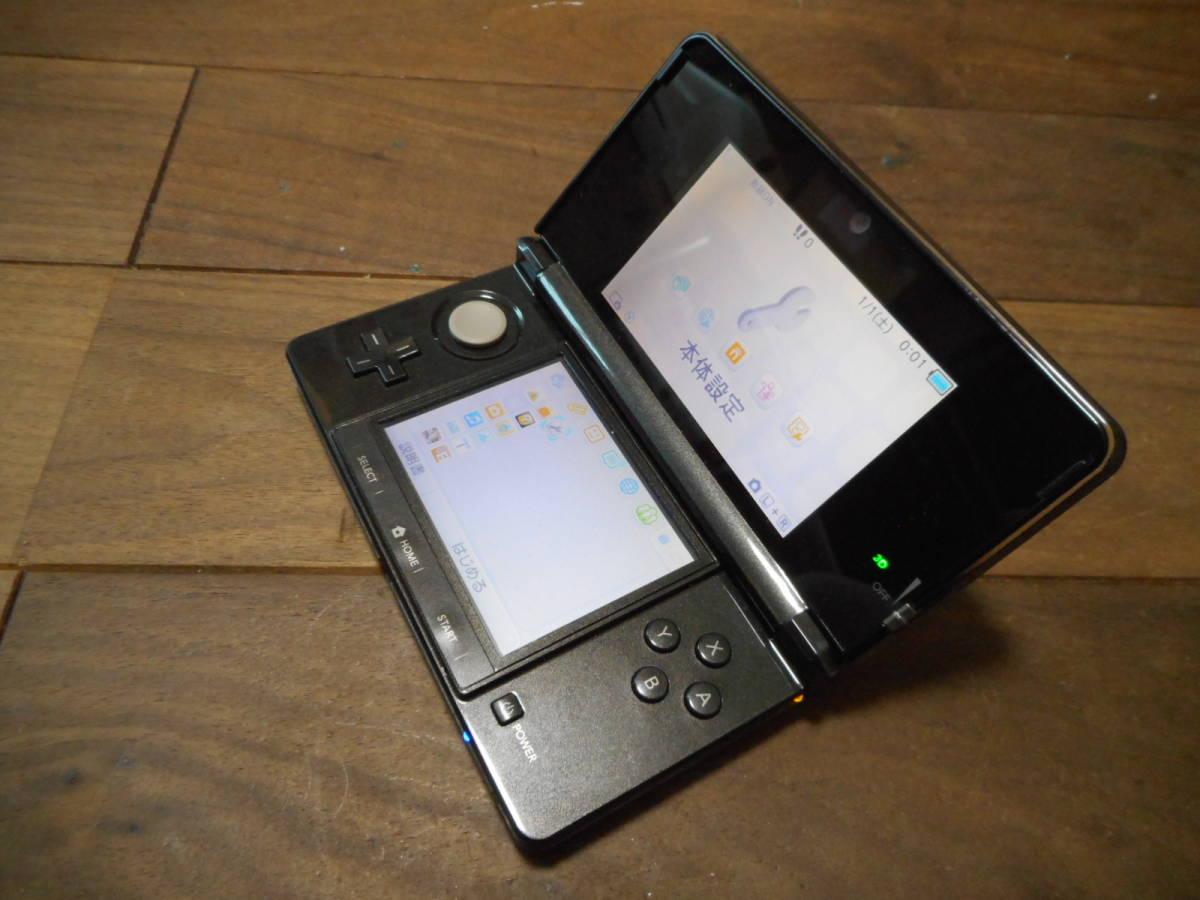 ④【送料無料】完動品3DS本体コスモブラックVer11.9.0-42J【動作確認済み1円スタート】