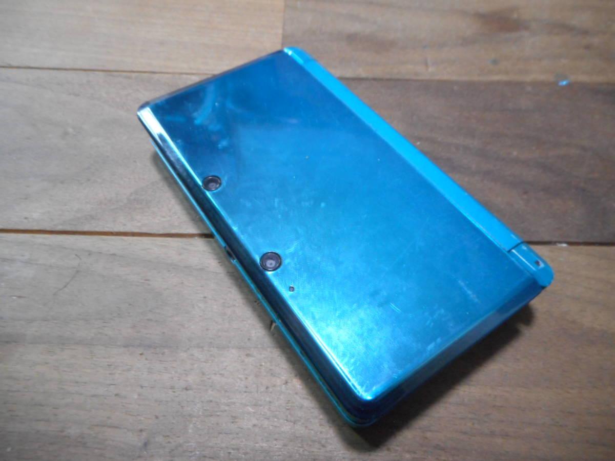 ①【送料無料】完動品3DS本体アクアブルーVer11.6.0-39J【動作確認済み1円スタート】_画像2