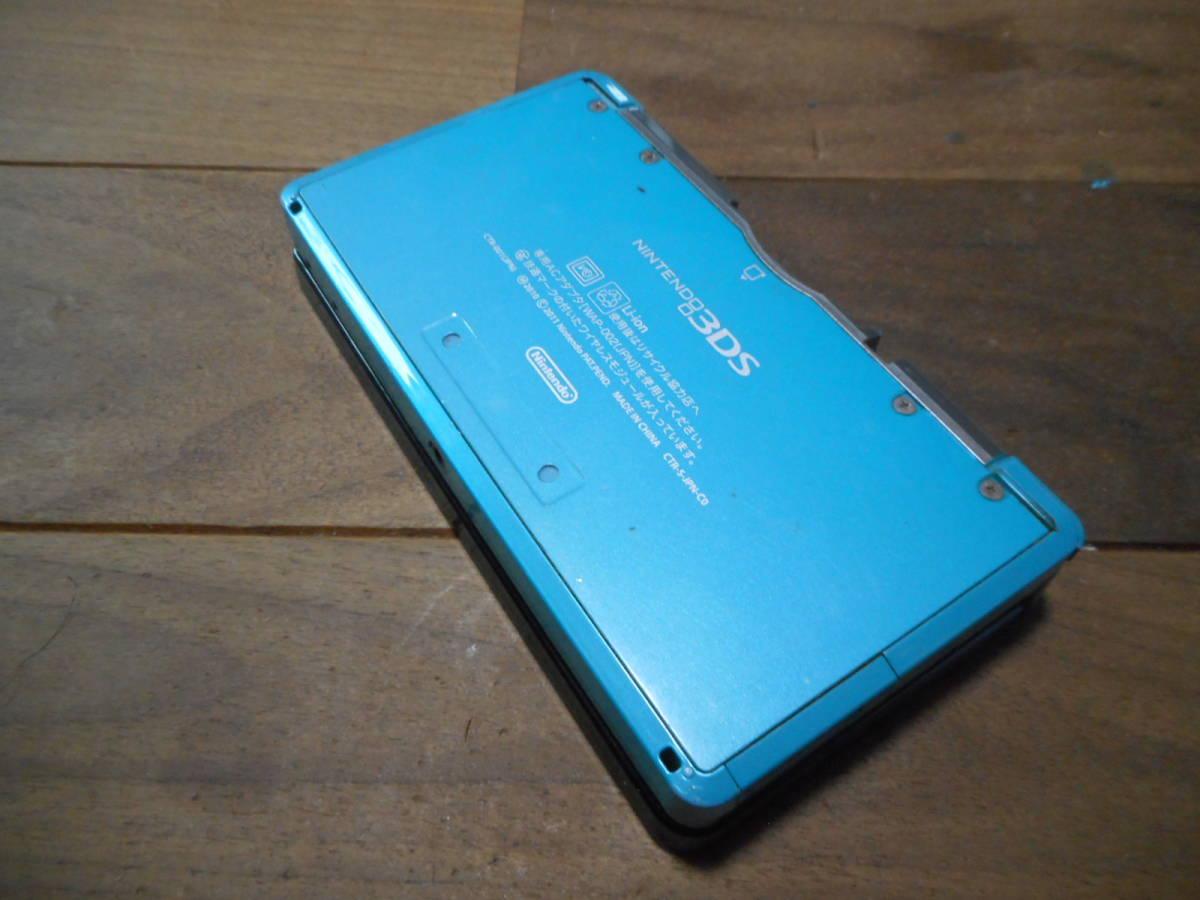 ①【送料無料】完動品3DS本体アクアブルーVer11.6.0-39J【動作確認済み1円スタート】_画像3