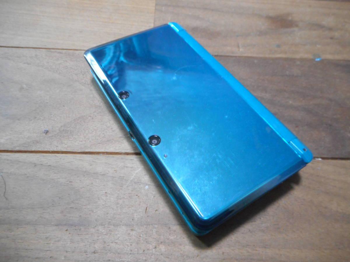 ②【送料無料】完動品3DS本体アクアブルーVer11.2.0-35J【動作確認済み1円スタート】_画像2