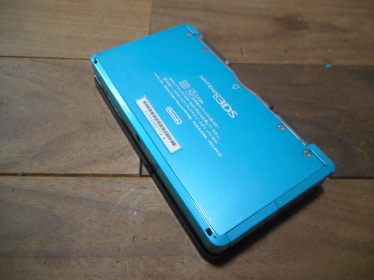 ②【送料無料】完動品3DS本体アクアブルーVer11.2.0-35J【動作確認済み1円スタート】_画像3