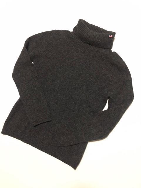 ◆Used◆RALPH LAUREN ラルフローレン タートルネック ウールニット セーター チャコールグレー Sサイズ_画像1