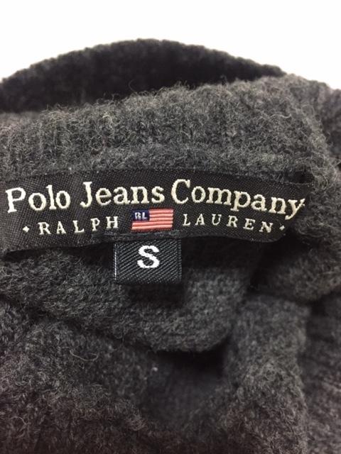 ◆Used◆RALPH LAUREN ラルフローレン タートルネック ウールニット セーター チャコールグレー Sサイズ_画像5