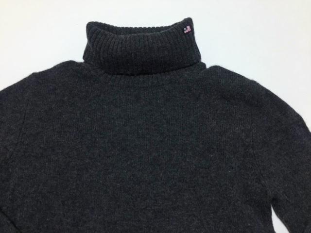 ◆Used◆RALPH LAUREN ラルフローレン タートルネック ウールニット セーター チャコールグレー Sサイズ_画像3