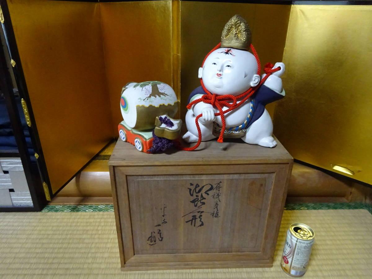 大きな古い御所人形 共箱入り(美品)