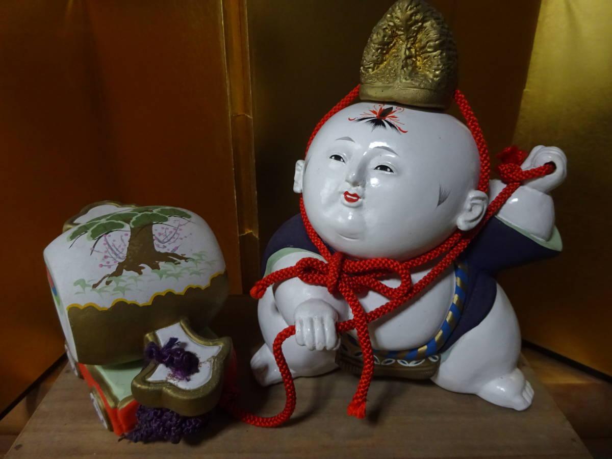 大きな古い御所人形 共箱入り(美品)_画像2