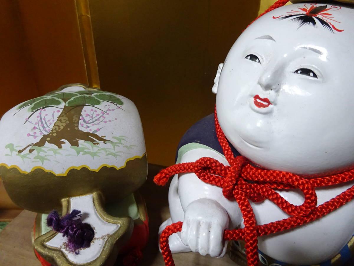 大きな古い御所人形 共箱入り(美品)_画像4