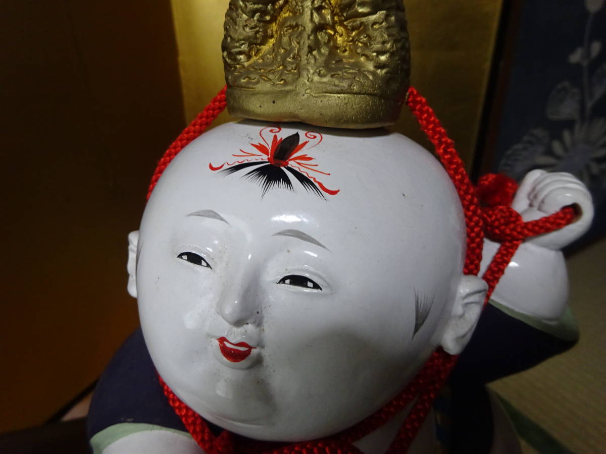 大きな古い御所人形 共箱入り(美品)_画像5