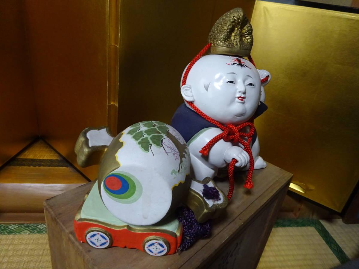 大きな古い御所人形 共箱入り(美品)_画像6
