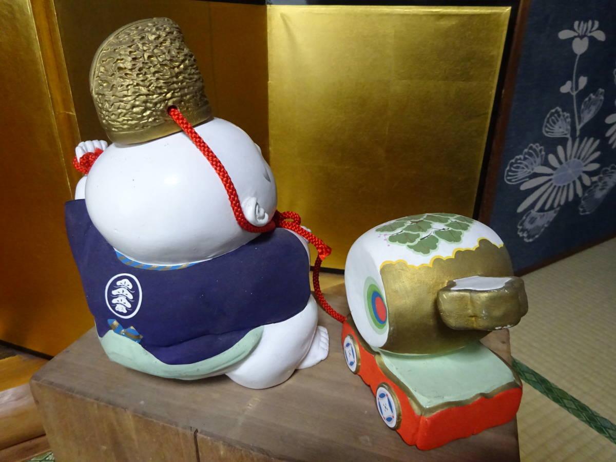 大きな古い御所人形 共箱入り(美品)_画像7