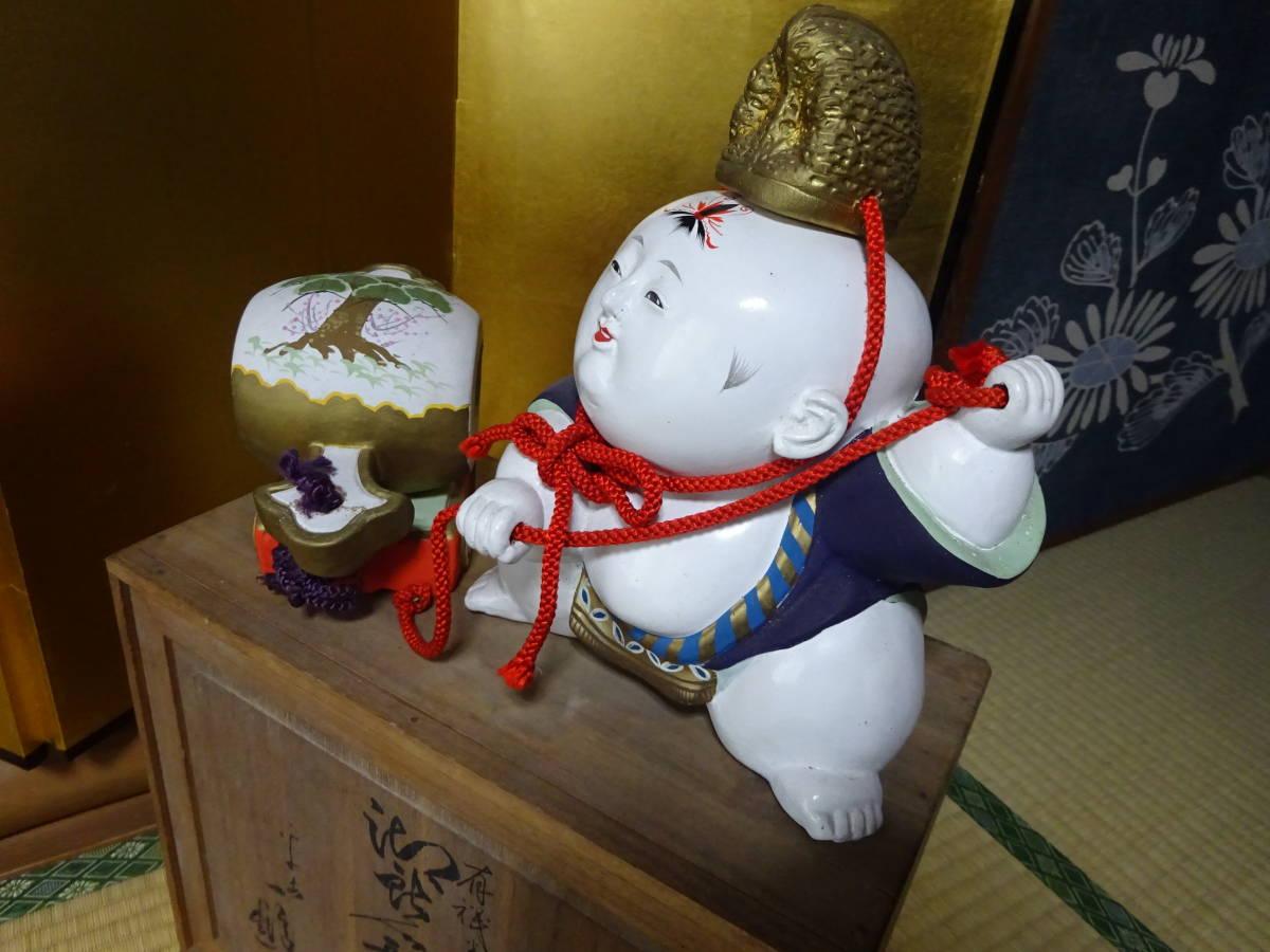 大きな古い御所人形 共箱入り(美品)_画像8
