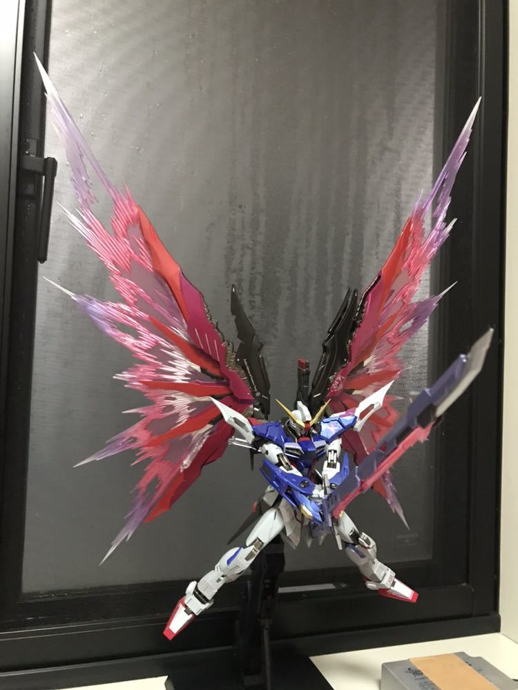 メタルビルド ストライクフリーダムSOUL BLUE Ver.光の翼セット+デスティニーガンダムフルパッケージ_画像8