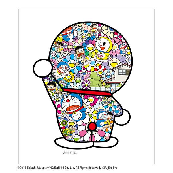 フルコンプ 5枚セット kaikaikiki 村上隆 × 藤子F不二雄 コラボ 版画 ドラえもん お花畑 どこでもドア シルクスクリーン_画像6