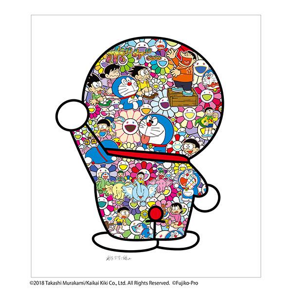 フルコンプ 5枚セット kaikaikiki 村上隆 × 藤子F不二雄 コラボ 版画 ドラえもん お花畑 どこでもドア シルクスクリーン_画像4