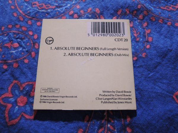 """稀少 3""""CDシングル DAVID BOWIE ABSOLUTE BEGINNERS/CDT20/Austria盤◇8センチCDS デヴィッド・ボウイ 8cmCDシングル_画像2"""