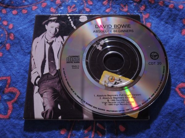 """稀少 3""""CDシングル DAVID BOWIE ABSOLUTE BEGINNERS/CDT20/Austria盤◇8センチCDS デヴィッド・ボウイ 8cmCDシングル_画像3"""