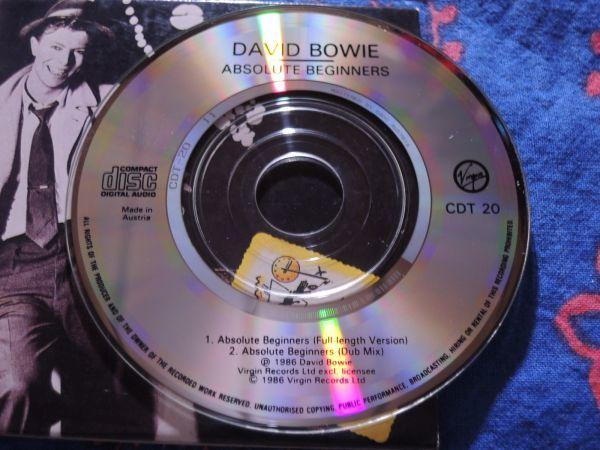 """稀少 3""""CDシングル DAVID BOWIE ABSOLUTE BEGINNERS/CDT20/Austria盤◇8センチCDS デヴィッド・ボウイ 8cmCDシングル_画像4"""