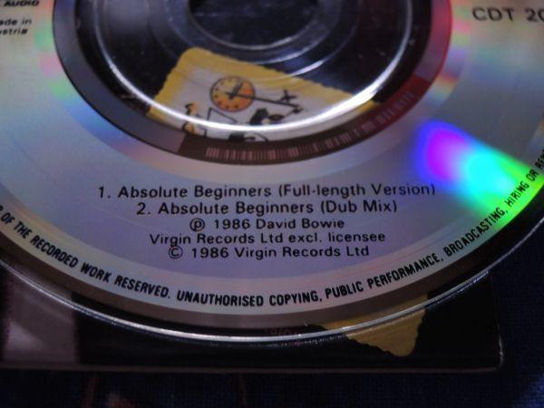 """稀少 3""""CDシングル DAVID BOWIE ABSOLUTE BEGINNERS/CDT20/Austria盤◇8センチCDS デヴィッド・ボウイ 8cmCDシングル_画像6"""