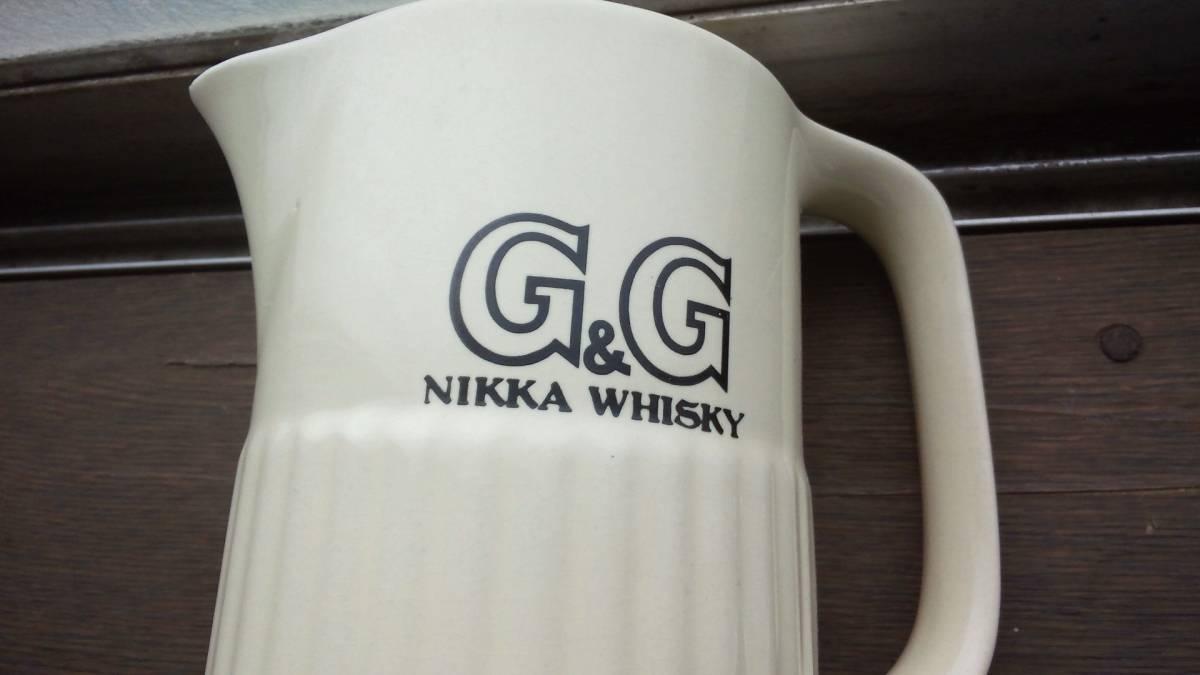 昭和レトロ ニッカウヰスキー・ニッカウイスキー G&G・水差し・ロックグラス_画像3