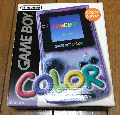 新品 未使用 ゲームボーイ カラー クリアパープル