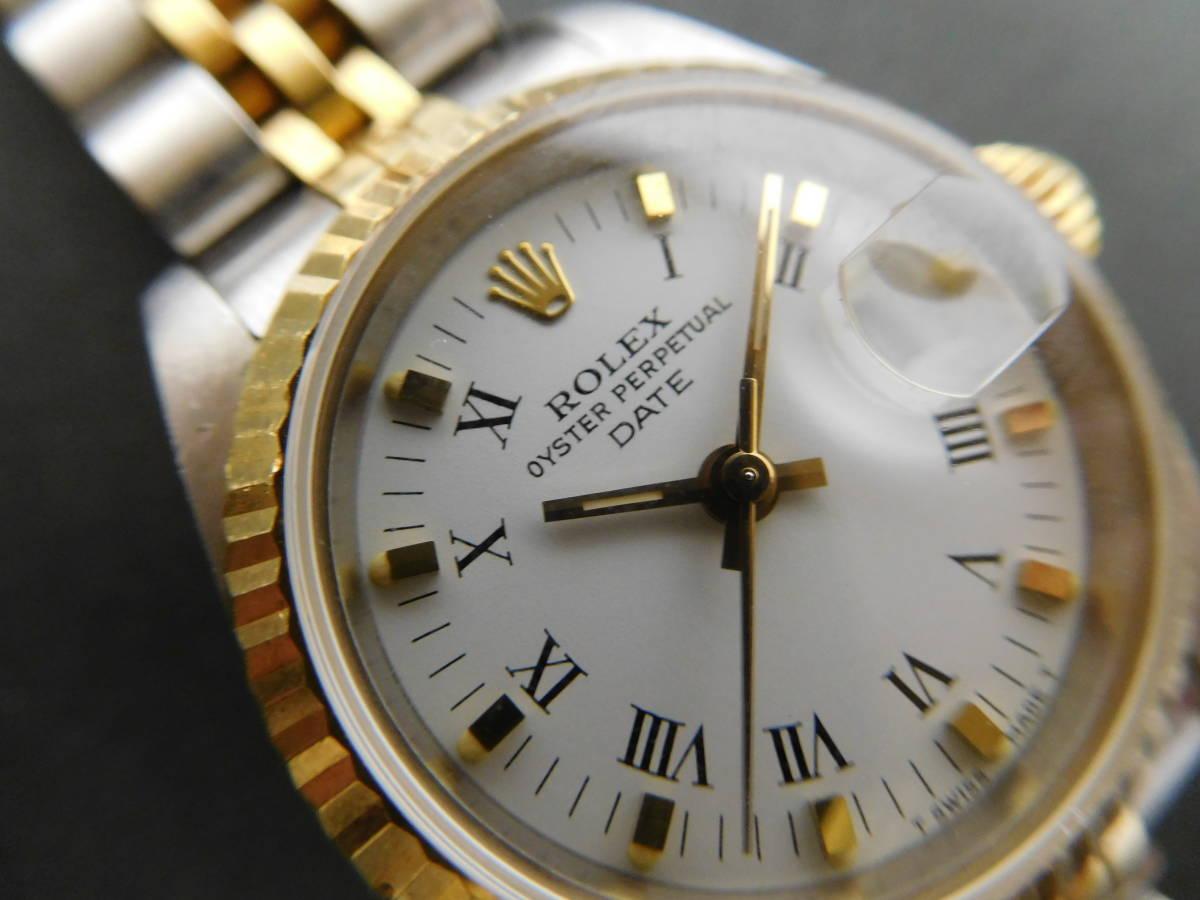 ROLEX ロレックス オイスターパーペチュアルデイト コンビ レディース 69173 自動巻き 腕時計 動作品 4:17JKL16_画像3