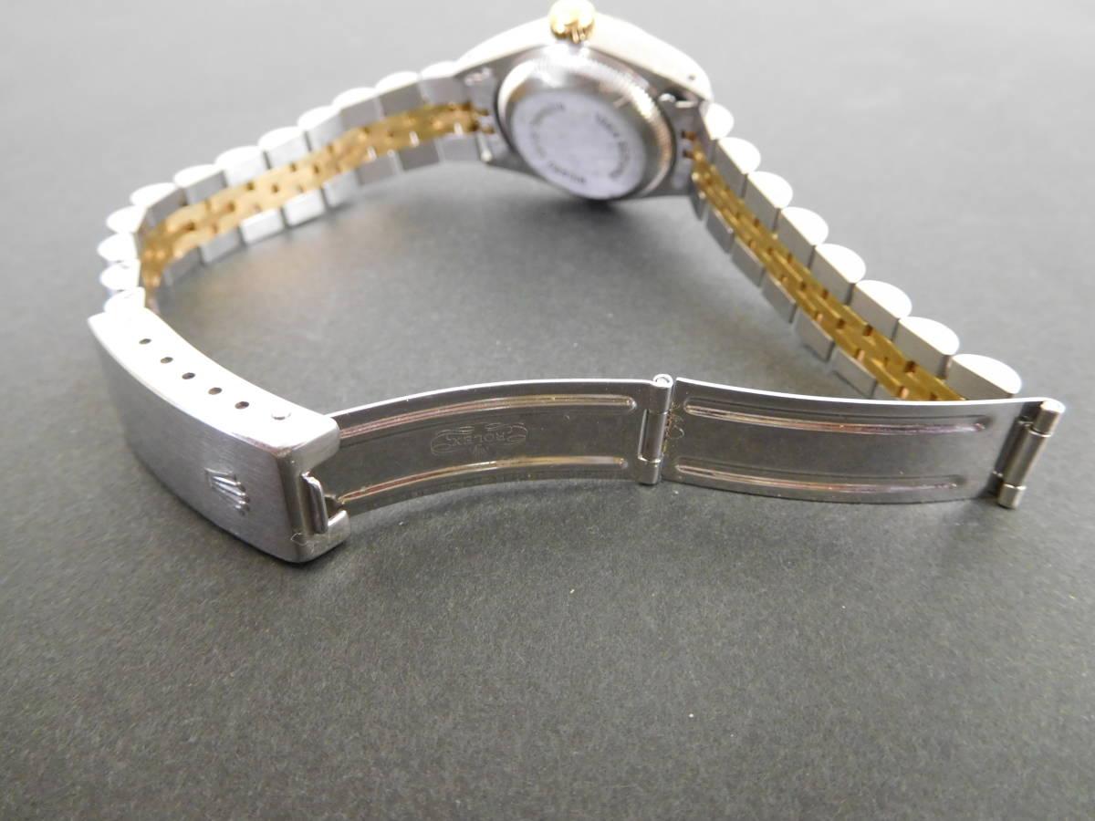 ROLEX ロレックス オイスターパーペチュアルデイト コンビ レディース 69173 自動巻き 腕時計 動作品 4:17JKL16_画像7