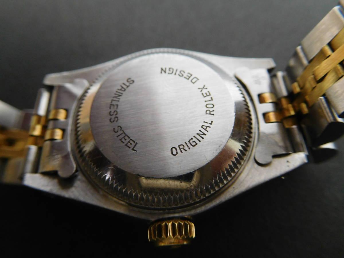 ROLEX ロレックス オイスターパーペチュアルデイト コンビ レディース 69173 自動巻き 腕時計 動作品 4:17JKL16_画像5