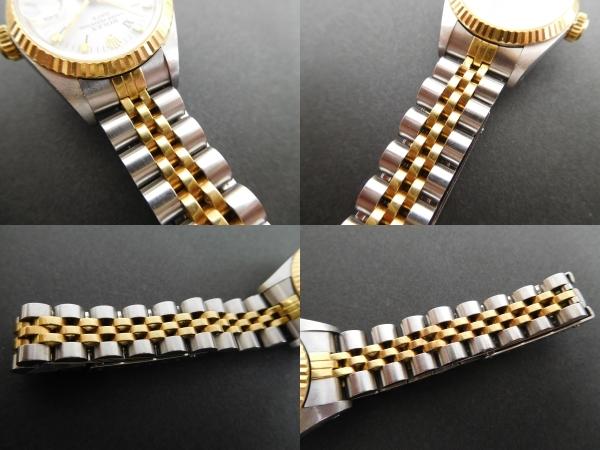 ROLEX ロレックス オイスターパーペチュアルデイト コンビ レディース 69173 自動巻き 腕時計 動作品 4:17JKL16_画像8