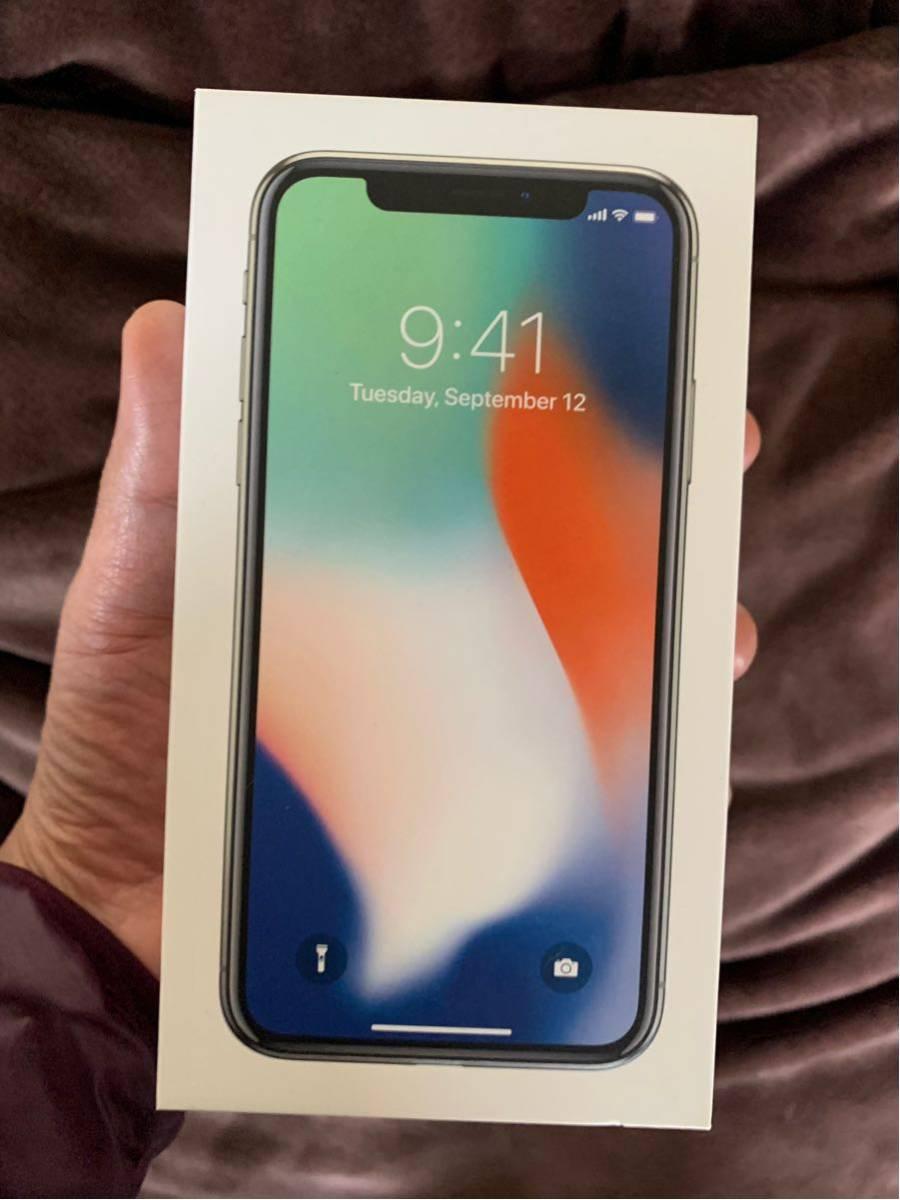 iPhone X 256GB SIMフリー シルバー Spigen 限定カバー付き 送料無料