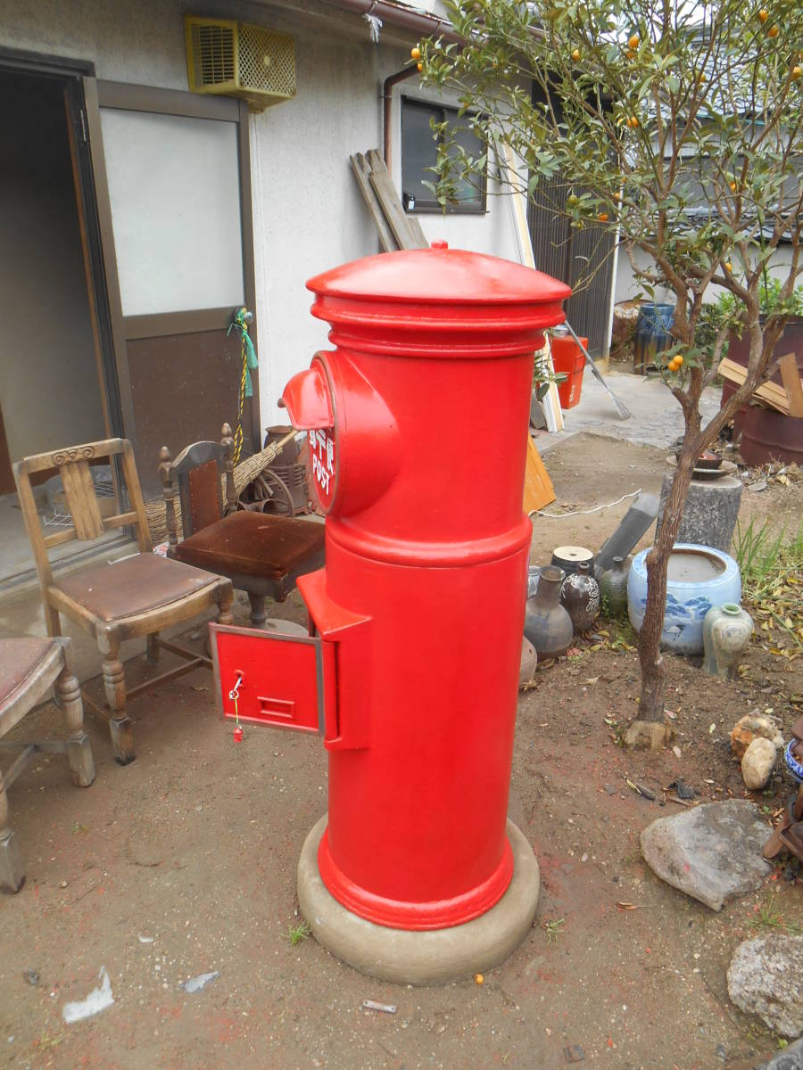 郵便ポスト 郵便ポスト本物 鍵付き昭和レトロポスト ポスト 自宅までお運びいたします。_画像3