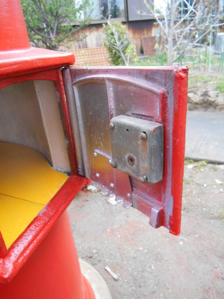 郵便ポスト 郵便ポスト本物 鍵付き昭和レトロポスト ポスト 自宅までお運びいたします。_画像8
