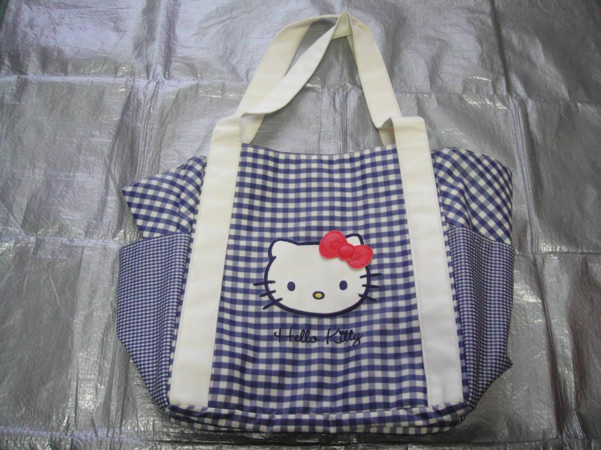 Hello Kitty・ハローキティ/★<ビニール/ナイロン製トートバッグ(ホック式/マグネット)・プールや海に最適♪>☆彡『展示品』
