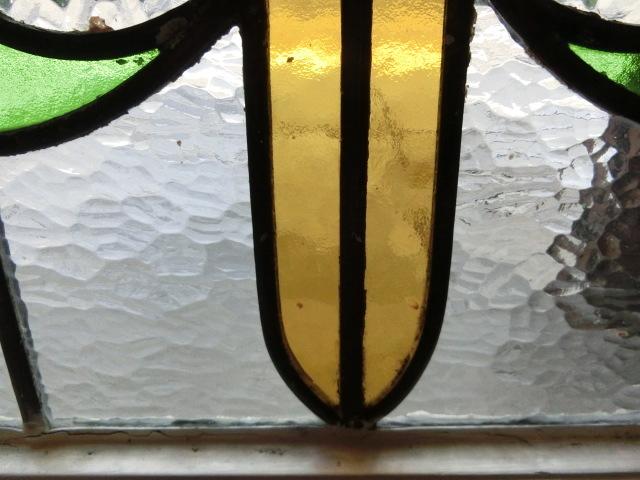 ステンドグラス 英国アンティーク 11S-048 バラ柄 四角 ドア ガラスインテリア イギリスアンティーク 送料無料_画像4