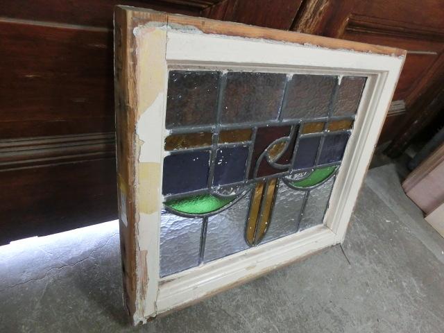 ステンドグラス 英国アンティーク 11S-048 バラ柄 四角 ドア ガラスインテリア イギリスアンティーク 送料無料_画像6