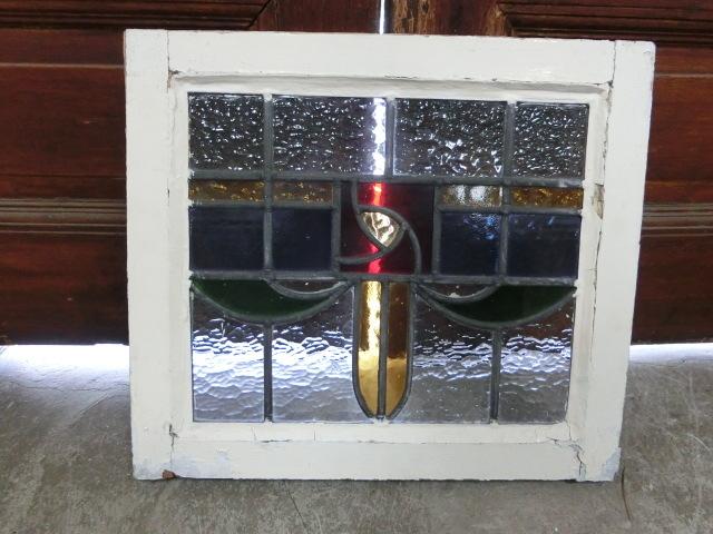 ステンドグラス 英国アンティーク 11S-048 バラ柄 四角 ドア ガラスインテリア イギリスアンティーク 送料無料_画像8