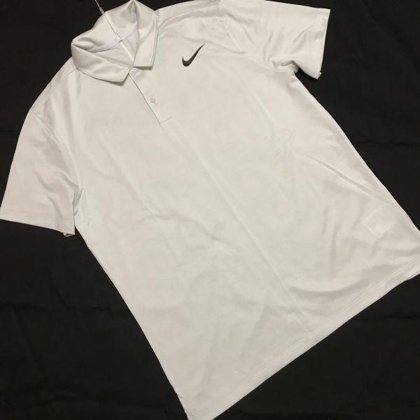 NIKE ナイキ ゴルフ 半袖 ポロシャツ Tシャツ ウルトラカモ ライトグレー XL